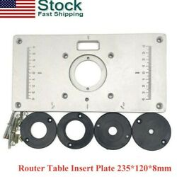 2020 Aluminum Router Table Insert Plate 2351208mm With Ring For Woodworking Us