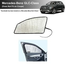 Side Window Front Seat Sunshade For 2016-2021 Mercedes-benz Glc-class 2 Pcs