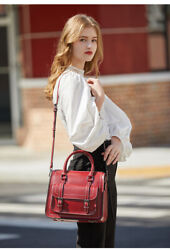preppy style schoolgirl Oil wax cowhide leather handbagshoulder bagM