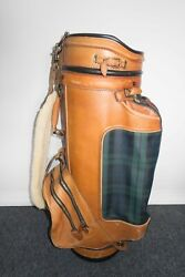 Belding Sport For Staff Golf Bag Plaid/leather 1990s Very Rare