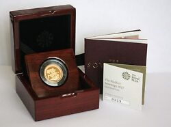 2017 Proof Piedfort Sovereign - 200th Anniversary With Coa - Just 2 Left