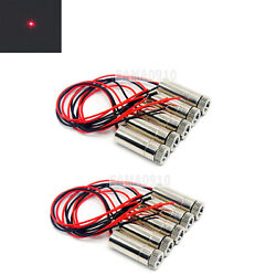 10pcs Focusable 3-5v Dot 650nm 5mw Red Laser Diode Module 12x35mm W/ Driver-in