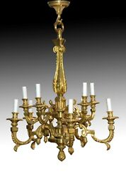 Bronze Chandelier Or Ceiling Light. France, Late 19th Century.