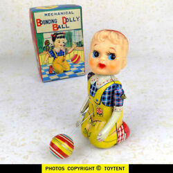 T.p.s. Bouncing Ball Dolly Girl Suzy Sports Wind-up Toy Tps Japan See Movie