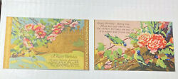 Vintage Colorful Birthday Greeting Postcards W Poems On Front Lot Of 2 1900and039s