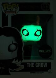 Funko Pop Movies The Crow 133 The Crow Glow In The Dark Hot Topic Exclusive
