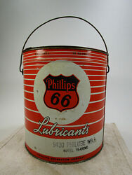 Vintage Phillips 66 Lubricant Full 10 Pound Grease Advertising Can 9430 Philube