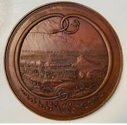 Old Patina 1848 Mexican War Hero General Zachary Taylor Bronze Medal 3 1/2