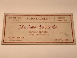 Vintage Aland039s Auto Service Akron Oh Automobile Advertising Ink Blotter Ford Chevy