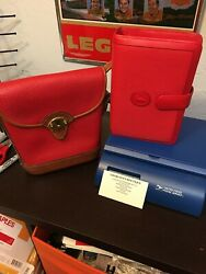 Vintage Dooney And Bourke Red Bag And Planner EUC $425.00