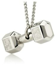 Women's Stainless Steel Frosted Dumbbell Necklace- Phil 413 Shields Of Strength