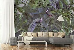 3d Peacock Feather I262 Wallpaper Mural Sefl-adhesive Removable Andrea Haase Hon
