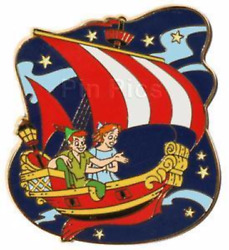 Disney Pin 56411 Dlr Festival Of Dreams Peter Pan Wendy Flying Pirate Ship 2007