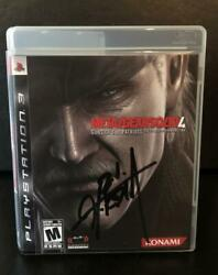 Hideo Kojima Signed Autograph - Metal Gear Solid 4 Playstation Video Game Legend