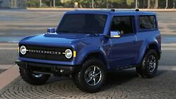 2021 Ford Bronco Blue Poster 24 X 36 Inch Nice