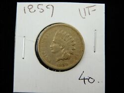 1859 Indian Head Cent Penny, Collector Coin Better Date 670