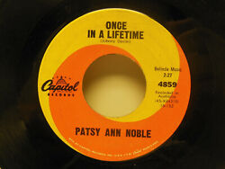 Patsy Ann Noble Once In A Lifetime / Don't Love And Run. 45 Rpm. Vg