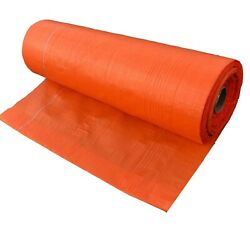 Landscape Fabric - Orange Ground Cover Weed Barrier Control Earthmat Silt Fence
