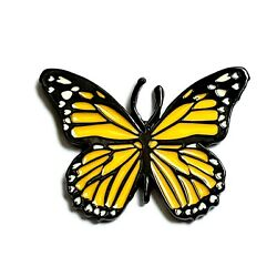 Butterfly Enamel Pin Insect Bug Heady Festival Hat And Lapel Brooch