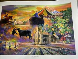 Robert Butler 1943 - 2014 A Day At The Fair Limited Ed Print 617/1000-signed