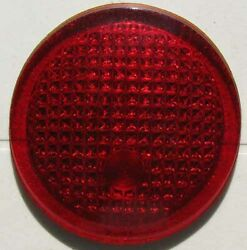 Rare Teens 1920s 1930s Ruby Red Glass 3 1/4 Inch Tail Light Lens G323