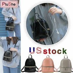 Oil wax Leather Mini Rucksack Small School Bag Backpack Purse Travel Handbag US $8.50
