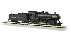 Bachmann 51353 N Scale Norfolk And Western 722 2-8-0 Consolidation Dcc And Sound