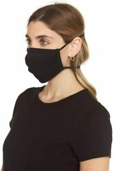 Soft Face Cover Combed Cotton Anti-microbial Prevention Washable 480 Pack Black