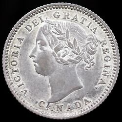 Canada. Victoria, 10 Cents, 1886. Portrait 5, Large Knobbed 6. Ex Seaby, 1963.