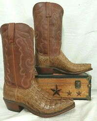 Lucchese Menand039s Boot Hornback Caiman Tail Made In Texas N1151.53 Franklin 700