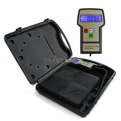 Digital Refrigerant Electronic Charging Scale Meters 220 Lbs For Hvac Lcd Screen