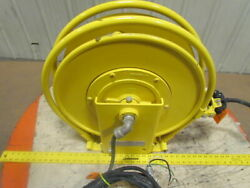Aero-motive Retractable Electric Cable Reel 45and039 110v 12/3 Cord 20amp 3-ring 600v