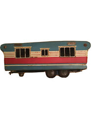 1960's Tin Toy Trailer Sss Japan Vintage Kids Toy Camper Camping Retro Collector