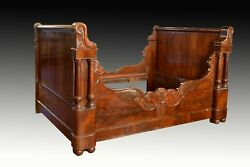 Mahogany Neoclassical Bed Frame 19th Century