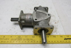 Boston Gear Ra1031 11 Ratio 1750rpm 1.5hp Input Dual Output Right Angle Gearbox