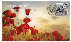 2015 Australia Remembrance Day 2 Coin Pnc - Stamp And Coin Cover