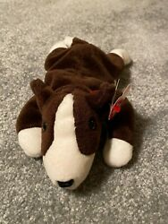 Rare Bruno Ty Beanie Baby 1997 P.v.c. Pellets With Tag Errors