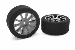 Corally Attack Foam Tires For 1/10 Gp Touring 42 Shore 30mm Rear On Carbon Rims