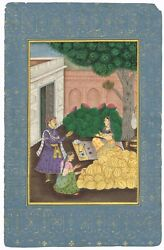 A Women Selling Watermelon Hand-painted Indian Miniature Art And Painting On Paper