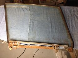 56-62 Chevy Corvette Lh Door Window Frame And Glass With Misc Other Parts