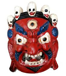 Halloween Decoration Wooden Ghost Mask Hanging Wall Art