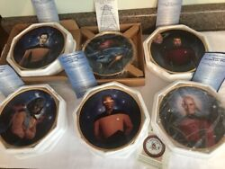 The Hamilton Collection Star Trek Plates Made In The Usa In Original Packages 6