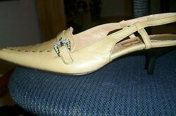 WOMENS GAETANO HI END ITALY DESIGNER  HEELS SHOES LEATHER SZ 7M EURO 38  $49.99