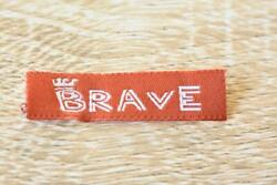 Brave Words Letter 10pcs 10x40mm Woven Clothing Label Tags Sew On