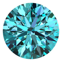 2.4 Mm Certified Round Fancy Blue Color Si Loose Natural Diamond Wholesale Lot