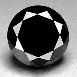 0.95 Cts. Certified Round Black Aaa Quality Loose Natural Diamond Wholesale Lot