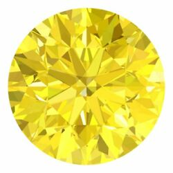 2.9 Mm Certified Round Fancy Yellow Color Si Loose Natural Diamond Wholesale Lot