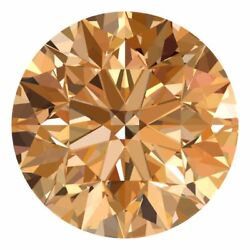 3.3 Mm Certified Round Fancy Champagne Color Loose Natural Diamond Wholesale Lot