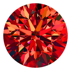 2.8 Mm Certified Round Fancy Red Color Si Loose Natural Diamond Wholesale Lot