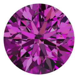 2.1 Mm Certified Round Fancy Purple Color Si Loose Natural Diamond Wholesale Lot